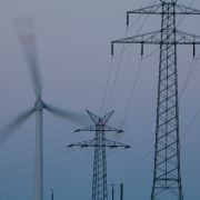 wind power plant and power poles