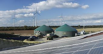 Renewable energies - biogas plant