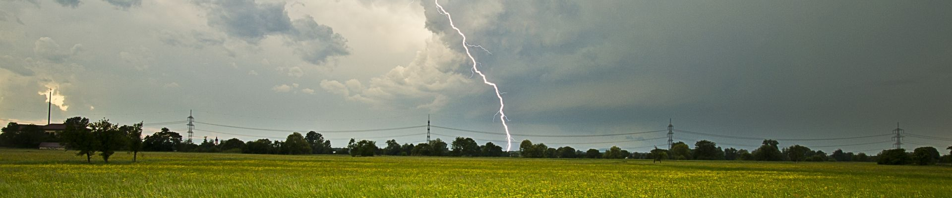 lightning and power line